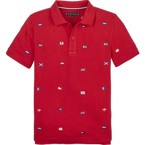 Tommy Hilfiger Polos FASHION ALLOVER FLAG POLO S S