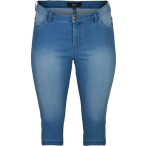 Zizzi 3 4-Jeans Damen Grosse Grössen Caprihose Slim Fit Mit Stretch