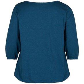 Zizzi Blusentop Damen Grosse Grössen Pullover 3 4 Arm Rundhals Basic Shirt