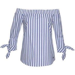 AJC Carmenbluse mit modischen Streifen Knotendetail