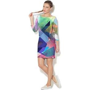 Colour Pleasure Freizeitkleid mit buntem Muster