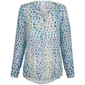 Alba Moda Bluse mit modernem Tupfen-Dessin allover