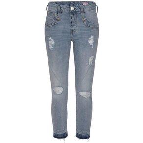 Herrlicher 7 8-Jeans SHYRA CROPPED Low Waist mit Destroyed Effekten