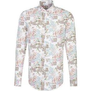 Jacques Britt Businesshemd Custom Fit Custom Fit Langarm Kentkragen Print