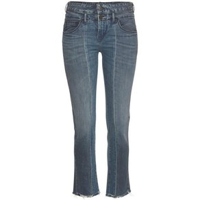 Herrlicher Ankle-Jeans BABY CROPPED High-Waist Patch-Optik
