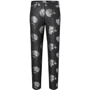 Laure l Anzughose mit glänzendem Blumenmuster