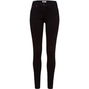 TOMMY JEANS Skinny-fit-Jeans MID RISE SKINNY NORA DNBST mit Tommy Streifen auf der Coinpocket Jeans Badge
