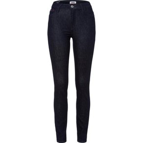 TOMMY JEANS Skinny-fit-Jeans HIGH RISE SKINNY SANTANA NRST in rinsed Optik mit Tommy Streifen auf der Coinpocket Jeans Badge