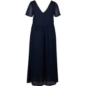 Zizzi Abendkleid Damen Grosse Grössen Maxikleid Kurzarm Kleid Feminin Sommerkleider