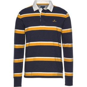 Gant Langarm-Poloshirt Kontrastkragen sportlicher Streifenlook