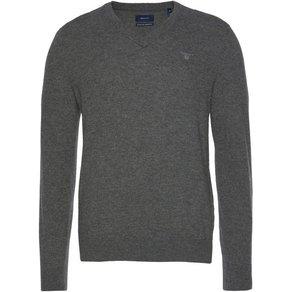 Gant V-Ausschnitt-Pullover aus reiner Lammwolle