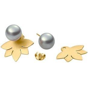 Heideman Paar Ohrhänger Lotusblume 10 Vergoldet hinten und vorne Ohrringe doppel ohrringe