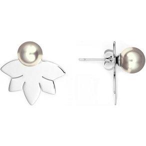 Heideman Paar Ohrhänger Lotusblume 8 Poliert hinten und vorne Ohrringe doppel ohrringe