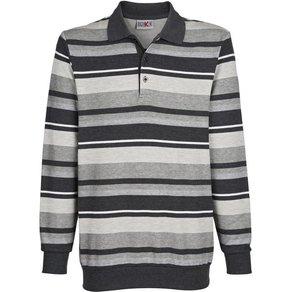 Roger Kent Sweatshirt mit garngefärbtem Streifenmuster