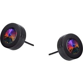 Heideman Paar Ohrhänger Colori Schwarz mit Swarovski Stein weiss oder Farbstein