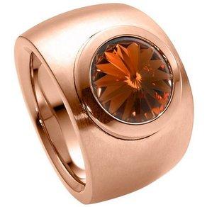 Heideman Fingerring Coma Verlauf Rosegold mit Swarovski Stein weiss oder farbig