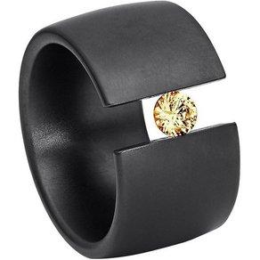 Heideman Fingerring Figura Poliert Ring mit Stein als Spannring gearbeitet