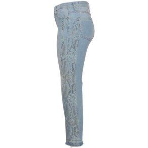 Please Jeans Ankle-Jeans P66MB mit seitlichem Schlangen-Print