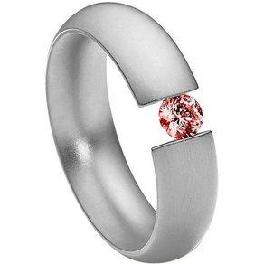 Heideman Fingerring Intensio Glanzmatt Ring mit Stein als Spannring gearbeitet