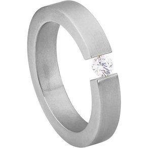 Heideman Fingerring Alterna Glanzmatt Damenring mit Swarovski Stein weiss oder farbig