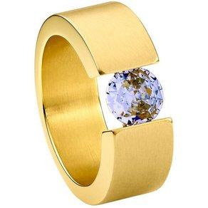 Heideman Fingerring Turris Gold Ring mit Stein als Spannring gearbeitet