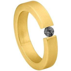 Heideman Fingerring Alterna Gold Damenring mit Swarovski Stein weiss oder farbig