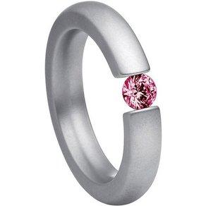 Heideman Fingerring Alterna Iv Glanzmatt Ring mit Stein als Spannring gearbeitet
