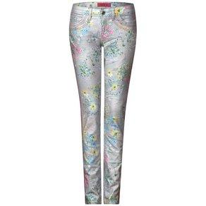 STREET ONE Slim-fit-Jeans mit Blumenprint