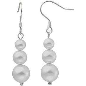 Heideman Paar Ohrhänger Fischhaken III Poliert Perlenohrringe mit Perle weiss oder farbig