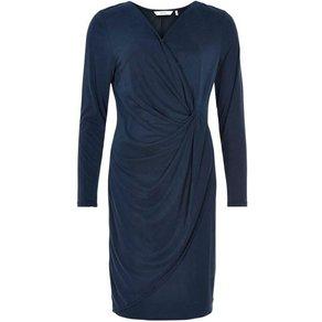 nümph Jerseykleid mit dekorativer Drappierung