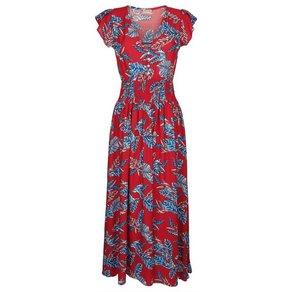 Alba Moda Strandkleid mit Blätterdruck
