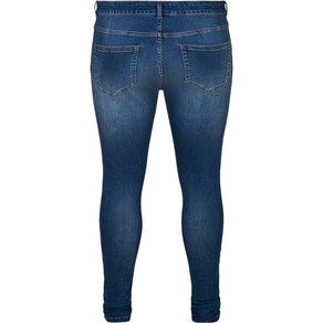 Zizzi Slim-fit-Jeans Amy Jeans Grosse Grössen Damen Super Slim Fit High Waist Jeanshose