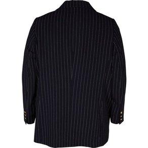 Zizzi Jackenblazer Damen Grosse Grössen Blazer Klassisch Anzug Business Streifen Jacke