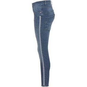 Please Jeans Boyfriend-Jeans P78A mit Glitzer-Seitenstreifen