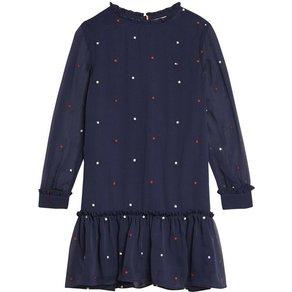 Tommy Hilfiger TOMMY HILFIGER A-Linien-Kleid mit Sternendruck