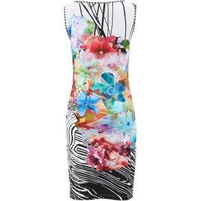 Alba Moda Kleid mit Streifenpaspel