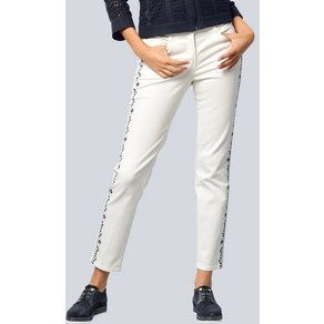 Alba Moda Jeans mit exklusiver Stickerei