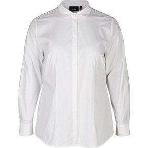 Zizzi Langarmshirt Damen Grosse Grössen Bluse Klassisch Langarm Kragen Hemdbluse