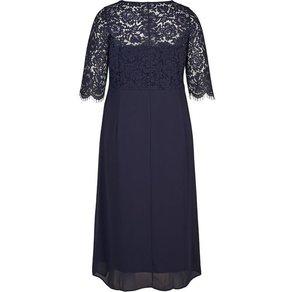 Zizzi Abendkleid Damen Grosse Grössen Spitzenkleid 3 4 Arm Spitze Elegant Kleid
