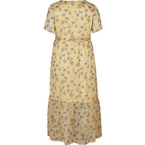 Zizzi Maxikleid Damen Kleid Grosse Grössen Blumenmuster Kurzarm Sommerkleid