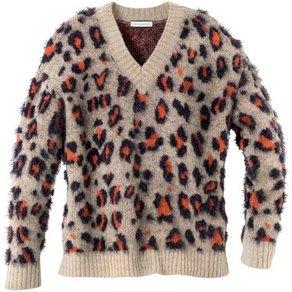 GUIDO MARIA KRETSCHMER V-Ausschnitt-Pullover im modischen Animal-Look