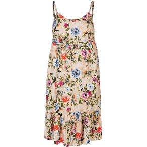 Zizzi Maxikleid Damen Grosse Grössen Kleid Geblümt Spaghettiträger Sommerkleid