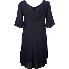Alba Moda Kleid mit über der Schulter verlaufendem Rüschenvolant