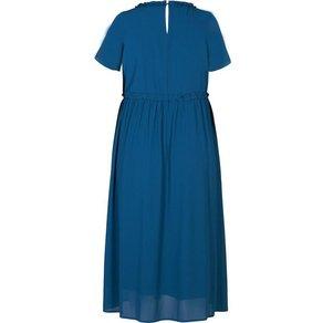 Zizzi Chiffonkleid Damen Grosse Grössen Langes Kleid Kurzarm Feminin