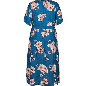 Zizzi Maxikleid Damen Grosse Grössen Kleid Blumenmuster Kurzarm Sommerkleid