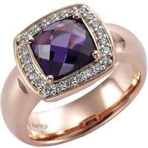 CELESTA Ring 925 Sterling Silber bicolor Zirkonia