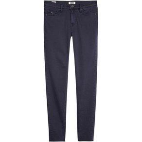 TOMMY JEANS Skinny-fit-Jeans MID RISE SKINNY NORA 7 8 BLKR mit leicht ausgefranstem Saum oer normalem