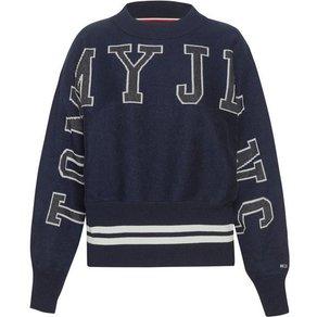 TOMMY JEANS Rundhalspullover TJW BATWING SWEATER mit eingestricktem Tommy Jeans Schriftzug