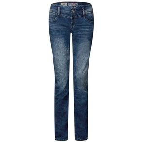 STREET ONE Comfort-fit-Jeans mit Galon-Streifen in Zebra-Optik