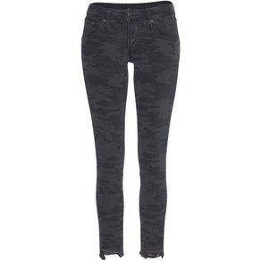 Herrlicher 7 8-Jeans TOUCH CROPPED CAMOUFLAGE Low Waist Ultra-Stretchjeans mit Cut Off Saum und Push-up-Effekt